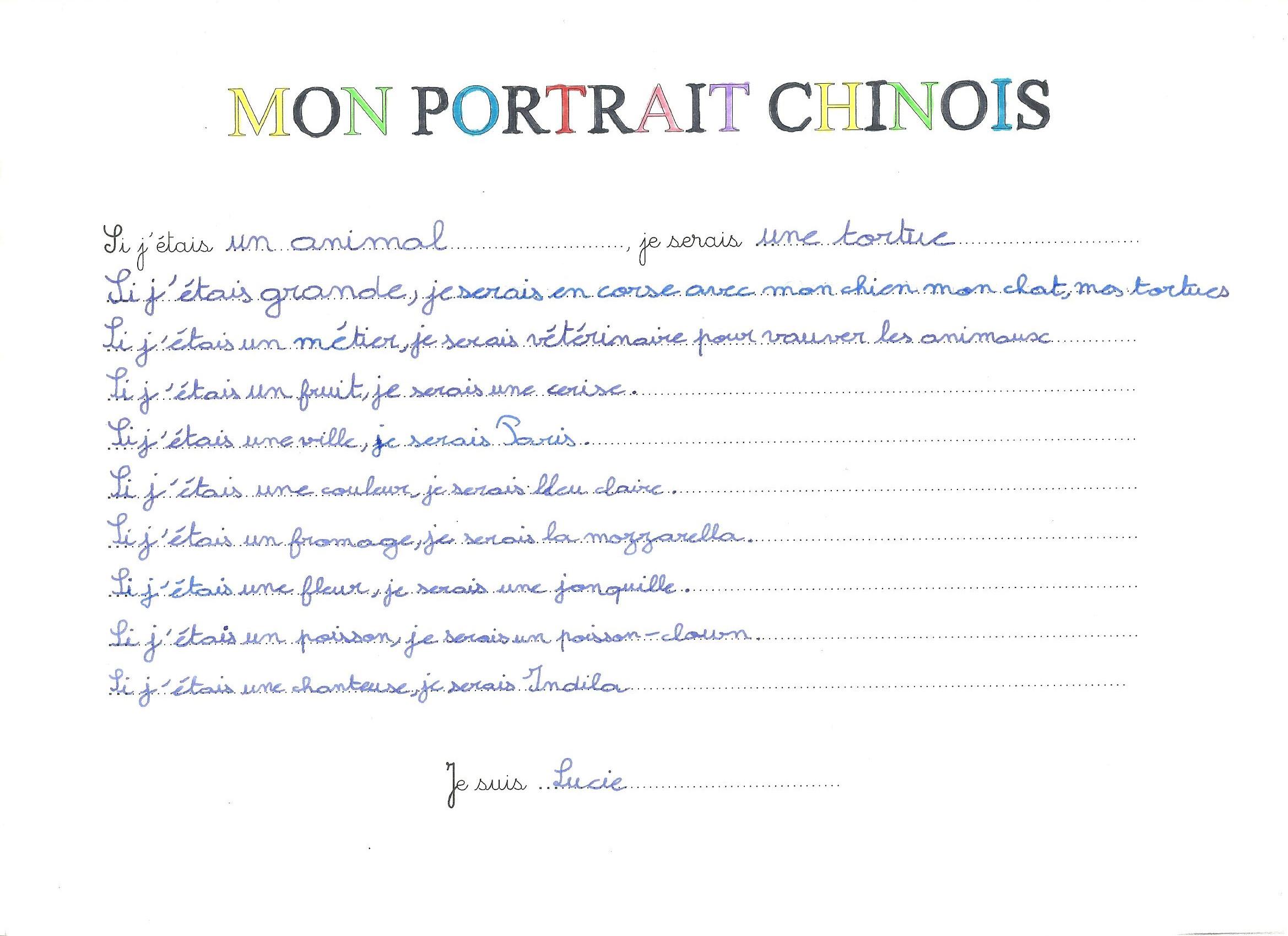 Ecole Jean Loup Chrétien Fauville En Caux Portrait Chinois Des