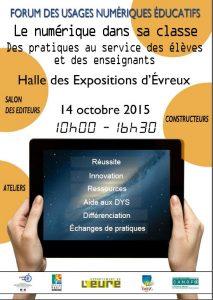 Affiche du forum du 14 octobre 2015